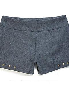 baratos Ponta de Estoque-Mulheres Moda de Rua Delgado Vestido Sólido Cintura Baixa / Shorts