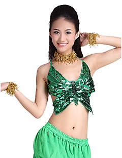 billige Karneval Kostumer-Magedans Topper Dame Trening Polyester Perlearbeid Paljett Mynter