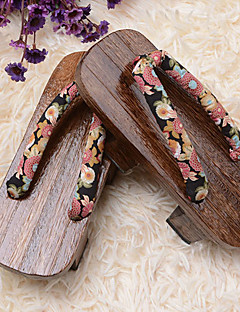 Lolita Shoes Wa Lolita Lolita Platform Shoes Floral 3 CM Brown For Wood Cotton