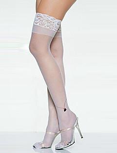 Cosplay Sokker og Strømpebukser Kvinnelig Halloween Karneval Festival/høytid Halloween-kostymer Hvit Ensfarget Blonder