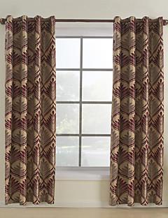 stang houder pakkingring bovenkant tab bovenkant dubbel geplooid window behandeling rococo jacquard eetkamer 100 polyester polyester