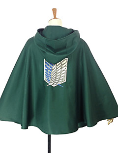 baratos Cosplay Anime-Inspirado por Attack on Titan Levy Anime Fantasias de Cosplay Tops Cosplay / Bottoms Retalhos Capa Para Homens