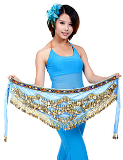Belly Dance Belt Women's Training Polyester Coins 1 Piece Hip Scarf