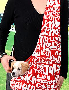 billiga Hundkläder-Brev Mönster Oxford utomhus paket Axelväska för husdjur Hundar (blandade färger, storlekar)