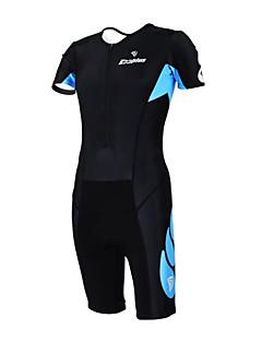 billige Triatlonklær-Kooplus Herre / Dame Kortermet Triathlondrakt Sykkel Klessett, Fort Tørring, Pustende Polyester