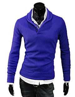 billiga Träning-, jogging- och yogakläder-Herr T-shirt för jogging - Ljusgrå, Blå, Mörkgrå sporter Stickat Tröja Långärmad Sportkläder