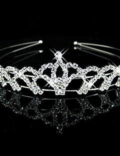 cheap Flower Girl Headpiece-Crystal Rhinestone Fabric Tiaras Headbands 1 Wedding Party / Evening Headpiece