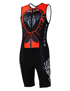 cheap Triathlon Clothing-Kooplus Men's Women's Sleeveless Tri Suit Cartoon Animal Bike Clothing Suits, Quick Dry, Breathable