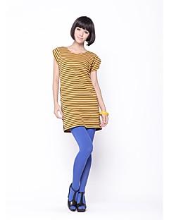 billige Outlets-Zoely Kvinder Sød rund hals Stripe Batwing Sleeve Dress 101121L050