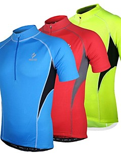 cheap Cycling Jerseys-Arsuxeo Men's Short Sleeve Cycling Jersey - Red / Blue / Light Green Bike Jersey, Quick Dry, Anatomic Design, Breathable Polyester