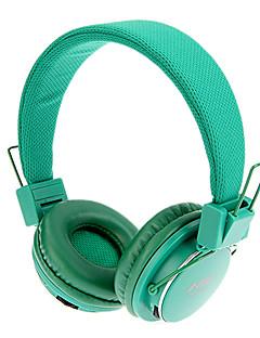 אוזניות על האוזן מתקפל סטריאו 3.5mm MRH-8809 עם פונקצית TF / FM (ירוק)