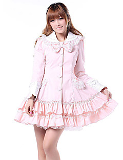 Coat Sweet Lolita Princess Cosplay Lolita Dress Solid Long Sleeves Coat For Polyester