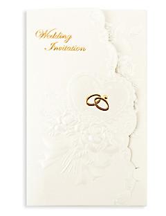 """preiswerte Spezial Angebote-Dreifach gefaltet Hochzeits-Einladungen Einladungskarten Geblühmter Style Perlenpapier 7 1/5""""×5"""" (18.4*12.8cm)"""