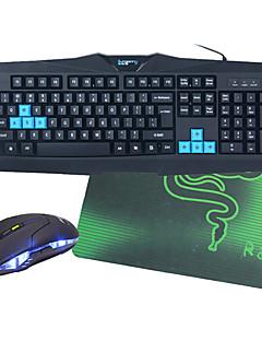 Χαμηλού Κόστους Computer Accessories-Ενσύρματη Πλήρες πληκτρολόγιο ποντικιού Με ποντίκι ποντικιού με οπίσθιο φωτισμό Θύρα USB πληκτρολόγιο Gaming