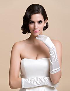 levne Akce týdne-Satén K lokti Rukavice Pro nevěstu Party rukavičky