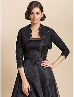 cheap -Long Sleeves Lace Wedding Party Evening Casual Wedding  Wraps With Sequin Coats / Jackets