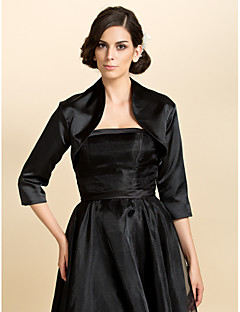 cheap -Satin Wedding Party Evening Casual Office & Career Wedding  Wraps Coats / Jackets