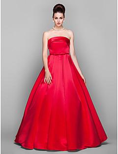 63789ecff3b9 Prinsesse Stropløs Gulvlang Satin Skolebal   Formel aften Kjole med  Sløjfe(r) ved TS Couture®