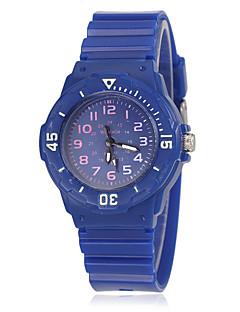 Heren Kinderen Modieus horloge Polshorloge Kwarts / Rubber Band Informeel Cool Wit Blauw Rood Orange Geel