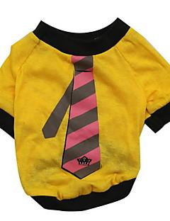 baratos -Cachorro Camiseta Roupas para Cães Respirável Preto Roxo Amarelo Marron Vermelho Ocasiões Especiais Para animais de estimação