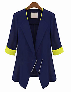 Mengsha Solid Color Fitted Korean Style Blazer