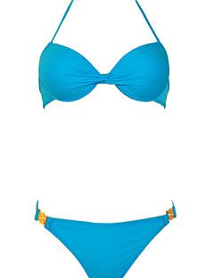 Beach Sexy Gather Bikini Swimwear Set with Steel Care