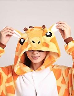 Kigurumi Pyjamas Sjiraff Kostume Oransje Korallfleece Kigurumi Trikot / Heldraktskostymer Cosplay Festival / høytid Pysjamas med dyremotiv