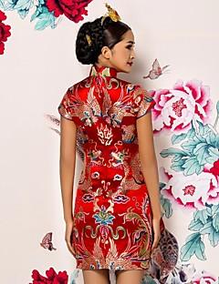 billiga Klänningar till speciella tillfällen-liten midja kjol brud toast kläder i odla blommor runda kavajslag ärmlösa klänningar.