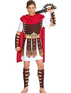 cheap Adults Costumes-Roman Costumes Gladiator Cosplay Costume Masquerade Party Costume Men's Halloween Carnival New Year Festival / Holiday Halloween Costumes