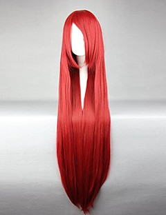 Cosplay Wigs Fairy Tail Elza Scarlet Red Long Anime Cosplay Wigs 100 CM Heat Resistant Fiber Female