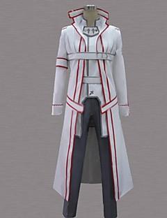 """billige Anime Kostymer-Inspirert av Sword Art Online Kirito Anime  """"Cosplay-kostymer"""" Cosplay Klær Lapper Langermet Frakk / Bukser / Belte Til Herre Halloween-kostymer"""