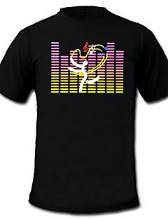 mens leuchten führte T-Shirt mit Ton und Musik für Party-Bar Raver aktiviert Equalizer