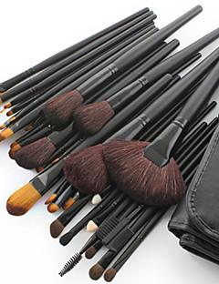Nowy profesjonalny zestaw pędzli do makijażu 32 sztuki - skóra kozia - z darmowym etui
