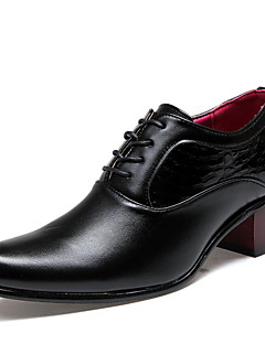 Erkek Ayakkabı Yapay Deri Bahar Yaz Sonbahar Kış Rahat Oxford Modeli Uyumluluk Günlük Siyah