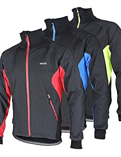 cheap Cycling Jackets-Arsuxeo Men's Cycling Jacket Bike Jacket / Winter Fleece Jacket / Top Thermal / Warm, Windproof, Anatomic Design Patchwork Polyester,