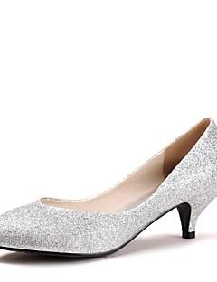 hesapli -Kadın's Ayakkabı Parıltılı Bahar / Yaz Minik Topuk Düğün için Mavi / Altın / Mor