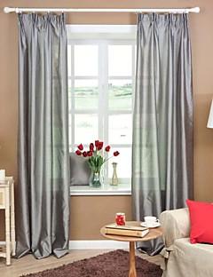 baratos Coleções de Janela-dois painéis quarto sólido geométrico cinzento roxo vermelho cortinas diáfanas