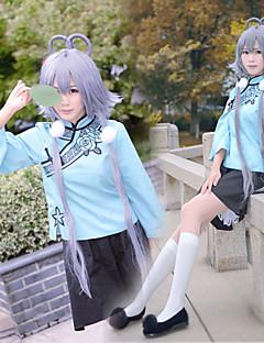 """billige Anime Kostymer-Inspirert av Vokaloid Cosplay Anime  """"Cosplay-kostymer"""" Cosplay Klær Langermet Topp / Skjørte / Sløyfe Til Dame"""