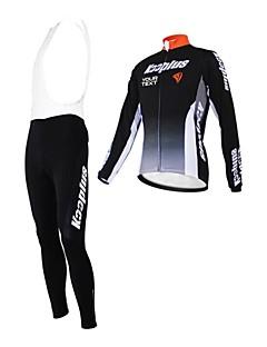 billige Sykkelklær-Kooplus Herre Dame Unisex Langermet Sykkeljersey med bib-tights Sykkel Tights Med Seler Jersey Klessett Velg Farge 6 # Velg Farge 7 #