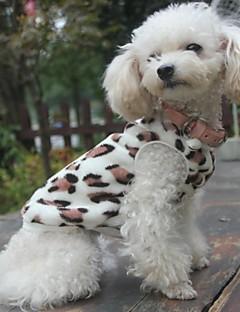 billiga Hundkläder-Katt Hund Tröja Pyjamas Hundkläder Leopard Svart Polär Ull Kostym För husdjur Herr Dam Ledigt/vardag