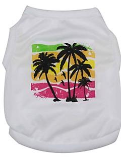 abordables -Chat Chien Tee-shirt Vêtements pour Chien Blanc Costume Pour les animaux domestiques