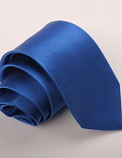 Men's Polyester Neck Tie,Party Work Casual Solid All Seasons Blue