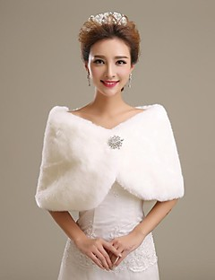 cheap -Faux Fur Wedding Party Evening Fur Wraps Wedding  Wraps Shrugs