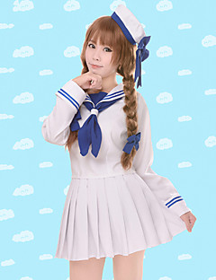cheap Anime Cosplay-Inspired by Wadanohara Cosplay Anime Cosplay Costumes Cosplay Suits Solid Long Sleeves Top Skirt Sleeves Hat For Women's