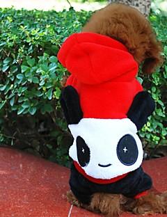 billiga Hundkläder-Hund Dräkter/Kostymer Outfits Huvtröjor Hundkläder Djur Röd Polär Ull Blandat Material Kostym För husdjur Cosplay Halloween