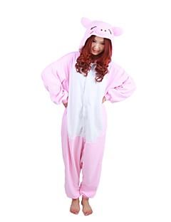 Kigurumi Pyjamas Grisunge/gris Kostume Rosa Polar Fleece Kigurumi Trikot / Heldraktskostymer Cosplay Festival / høytid Pysjamas med