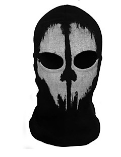 billige Halloweenkostymer-Grim Reaper Maske Unisex Halloween Festival / høytid Halloween-kostymer Trykt mønster