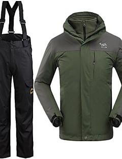 男性用 3-in-1 ジャケット 防水 保温 防風 冬物ジャケット 洋服セット トップス のために スキー 冬 S M L XL XXL