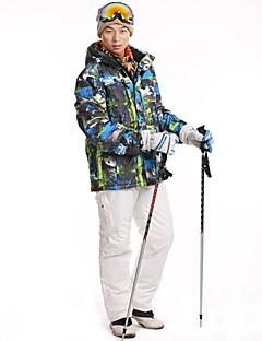 tanie Kurtki turystyczne i polary-Męskie Kurtka i spodnie narciarskie Na wolnym powietrzu Zima Wodoodporny Keep Warm Wiatroodporna Pyłoszczelne Zdatny do noszenia