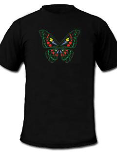 LED-T-Shirts Musik aktivierte LED Lampen Textil Stilvoll 2 AAA Batterien